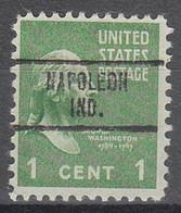 USA Precancel Vorausentwertungen Preos, Locals Indiana, Napoleon 734 - Precancels