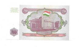 *tajikistan 20 Rubles 1994  4  Unc - Tajikistan