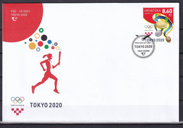 CROATIA 2021,OLYMPIC GAMES TOKYO 2020,FDC - Croazia