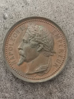 Medaille Cuivre NAPOLEON EMPEREUR EXPOSITION UNIVERSELLE 1855 / 35 Mm 20,9 G - Royal / Of Nobility