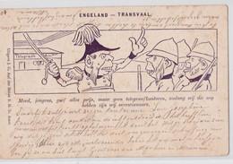 ENGELAND TRANSVAAL ARTIST ILLUSTRATION CARICATURE 1899 BOER WAR SOUTH AFRICA TELEGRAPH GUERRE DES BOERS TELEGRAPHE - Avant 1900