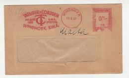 Taeuber & Corssen Meter Stamp On Letter Cover Posted 1957 Windhoek Pmk B211001 - África Del Sudoeste (1923-1990)