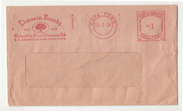 Limosin Brandy Meter Stamp On Letter Cover Posted 1956 Cape Town Pmk B211001 - Cartas