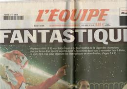 JOURNAL L EQUIPE 7 AVRIL 2004 FOOTBALL FANTASTIQUE MONACO SORT LE REAL DE MADRID GIULY DOUBLE - 1950 - Oggi