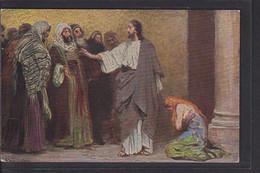 B34 /   Kunstkarte Leinweber / Jesus Und Die Ehebrecherin / Die Heilige Schrift - Jesus