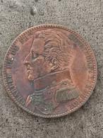 Médaille Monnaie De Visite, Module De 5 Francs Pour Charles Philippe De France à La Monnaie De Paris 1818 / 37 Mm 23,1 G - Royal / Of Nobility