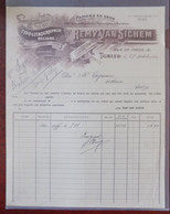 Facture Ets Remy Van Sichem - Papier En Gros - Tubize 27.10.1916 - Printing & Stationeries