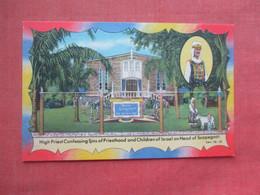High Priest Confessing Sins Of Priesthood Postcard Children Israel Scapegoat     Ref 5188 - Unclassified