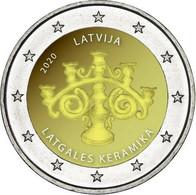 Latvia Lettland , LETTONIA  Kms 2020 Munze 2 Euro LATGALIA KERAMIK Unz Aus Roll - Latvia