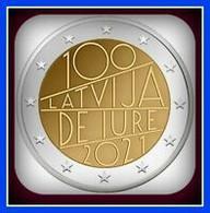 2021 Latvia Lettland LETTONIA Kms 2021 Munze 2 Euro 100 Latvia De Jure Auflage Unz AUS ROLL / FROM ROLL 1 COIN - Latvia