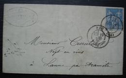Pau 1877 R. Dabadie Vins En Gros, Vins & Spiritueux Lettre Pour Curutchet Négociant En Vins à Lanne Par Aramits - 1877-1920: Periodo Semi Moderno