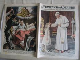 # DOMENICA DEL CORRIERE N 3 -1957 PIO XII / LOTTERIA VINCITA  A PESCARA  / PUBBLICITA VARIE - Prime Edizioni