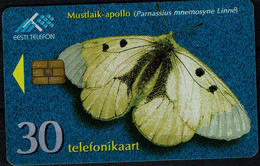 ESTONIA 1998 PHONECARD BUTTERFLIES USED VF!! - Farfalle