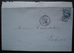 Pau 1868 P. Hilhou Confiserie Et Distillerie  Liqueurs Pour Mr Curutchet De Lanne - 1849-1876: Periodo Clásico