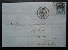 Pau 1869 P. Hilhou Confiserie Et Distillerie  Liqueurs Pour Mr Curutchet De Lanne Arrondissement D'Oloron - 1849-1876: Periodo Clásico