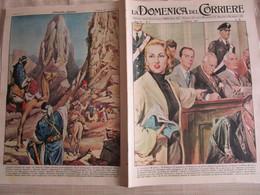 # DOMENICA DEL CORRIERE N 5 -1957 IL PROCESSO MONTESI / ALPINISTI ITALIANI NEL REGNO DEI TUAREG /PUBBLICITA VARIE - Prime Edizioni