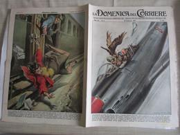 # DOMENICA DEL CORRIERE N 6 -1957 INCIDENTE IN VOLO CON F-86  / INCIDENTE SU TRENO PRESSO VALENZA  /PUBBLICITA VARIE - Prime Edizioni