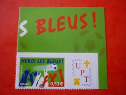 FRANCE   N° 3936B  ADHESIF MERCI LES BLEUS UPT  UNION PHILATELIQUE DE TOURS  NEUF SANS CHARNIERE - Personalized Stamps