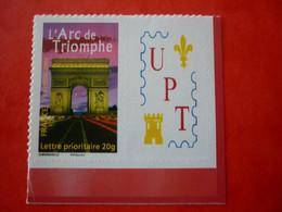 FRANCE   N° 3599A  ADHESIF ARC DE TRIOMPHE PERSONNALISE  UPT  UNION PHILATELIQUE DE TOURS  NEUF SANS CHARNIERE - Personalized Stamps