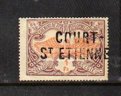 Belgique - Chemin De Fer - Griffe De '' COURT-St-ETIENNE '' N° TR41 - 1895-1913