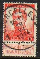Belgique - N° 123 Oblitération '' COURCELLES '' - 1912 Pellens