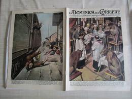 # DOMENICA DEL CORRIERE N 12 -1957 BATTESIMO NELLA GABBIA DEL CIRCO ORFEI / REDONA (BERGAMO) - Prime Edizioni