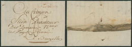 Armée De Napoléon - L. Datée De Bruges (1796) + Griffe Don G. / Bau Gal Des Arm (Armée Du Nord) > Bruxelles - 1794-1814 (French Period)