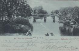 9947) EMDEN - Am CANAL Mit HOLZBRÜCKE - Tolle LITHO 24.10.1901 ! - Emden