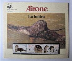 ALLEMAGNE - REPUBLIQUE DEMOCRATIQUE - FDC - Airone - WWF - La Lontra - 1987 - FDC: Ersttagsblätter