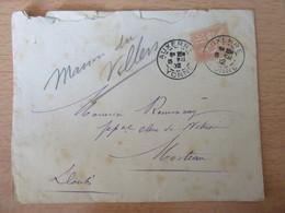 Timbre Mouchon 15c N°117 Sur Enveloppe - Auxerre Vers Morteau - 1902 - 1877-1920: Periodo Semi Moderno