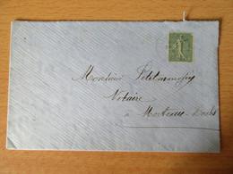 Timbre Semeuse 15c N°130 Sur Enveloppe Vers Morteau - Vers 1910 - 1877-1920: Periodo Semi Moderno