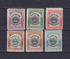 LABUAN 1902/03, SG# 117-118, 121, 124-126, Part Set, Crown, MH - Federation Of Malaya