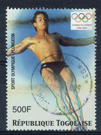 Togo, 500f, Plongeon, Jeux Olympiques D'Athènes (Grèce), 2004, Obl, TB - Togo (1960-...)