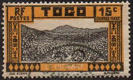 Togo Obl. N° Taxe 13 - Cotonnier - Le 15c Jaune-foncé - Usati