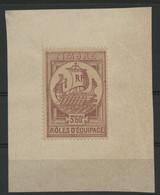 Rôles D'Equipage N° 1, 3.6Fr Lilas-rose Neuf Sur Un Petit Fragment D'une Feuille De Greffe. COTE 80 € - Revenue Stamps