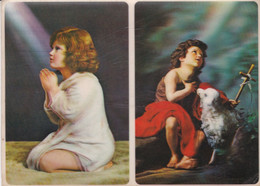 JOHN THE BAPTIST, JEAN LE BAPTISTE. CARTE POSTALE AVEC EFFET 3D. ECRIT ANNEE 1972, NON CIRCULEE- LILHU - Saints