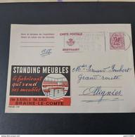 CARTE PUBLIBEL 2199 BRAINE LE COMTE STANDING MEUBLES ENVOIS POUR OLLIGNIES +cachet Pays D'ath - Publibels