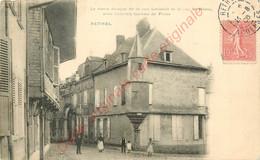 08.  RETHEL . Le Vieux Donjon De La Rue Lassalle Et Le Rue St-Remy . - Rethel