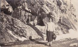 ESPAÑA. ESCOBIO DE ARRIBA, EN EL RIGOR DEL INVIERNO 1937 (1928). RARISIMA TARJETA POSTAL, NO CIRCULADA.- LILHU - Asturias (Oviedo)