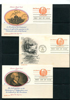 USA 1978 3 PS Cards With Reply Cards John Hancock 11507 - 1961-80