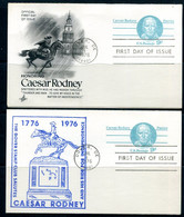 USA 1976  2 PS Cards With Reply Cards Caesar Rodney Patriot 11508 - 1961-80