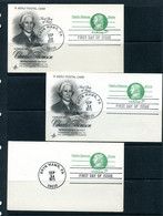 USA 1975 3 PS Cards With Reply Cards Charles Thomson Patriot 11509 - 1961-80
