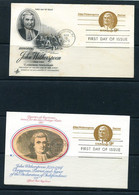 USA 1975 2 PS Cards With Reply Cards John Witherspoon Patriot 11510 - 1961-80