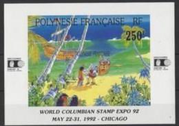 """A - POLYNÉSIE DOM TOM BF N°20 """" COLOMBIAN 92 """" 1992 - Blocchi & Foglietti"""