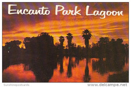 Arizona Phoenix Sunset Over Encanto Park Logoon - Phoenix
