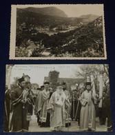CORFU KERKYRA ST SPYRIDON PROCESSION HOLY RELICS LITANY 1959 PHOTO BISHOP METHODIOS ORTHODOX CHURCH PALEOKASTRITSA BAY - Greece