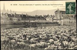 CPA Autun Saône Et Loire, Foire De La Saint Ladre - Other Municipalities
