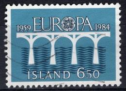 1984 EUROPA / C.E.P.T.: 25. Anniversary Of C.E.P.T. (Bridge), 6.50k, Used - Oblitérés
