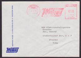Dresden WEHES Werner Hesse AFS =DP 010= 1989 Ortsbrief - Poststempel - Freistempel