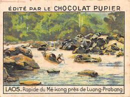 PIE-FO-21-3504 : EDITION DU CHOCOLAT PUPIER. LAOS. RAPIDE DU ME-KONG PRES DE LUANG-PRABANG - Laos